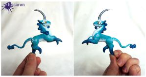 Trade: Teal Mini Unicorn - Sculpture by Escaron