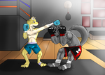 Commision:Sparring After dark by GenshiTatsunora