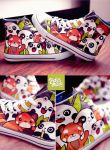 Panda Friends Chuckz by Bobsmade