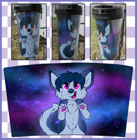Galaxy Tumbler Commission by Spaggled