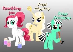 3 Cute Pony Adoptables by Willemijn1991