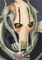 General Grievous Sketch Card by AllisonSohn