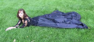 Black Ballgown Terra 20 by Falln-Stock
