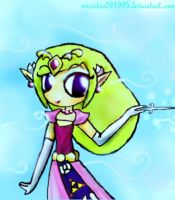 The Lady Wind Waker by MissStar091995