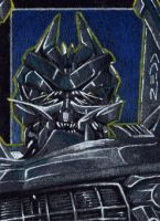Barricade - Sketch Card by J-Redd