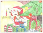 Giantess and Christmas Gifts by EmperorNortonII