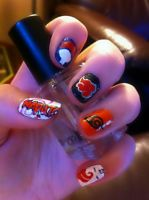 Naruto nail art by HummingbirdHeartbeat