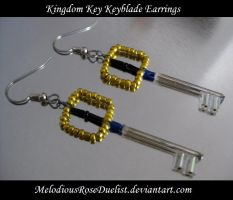 Kingdom Keyblade Earrings by MelodiousRoseDuelist