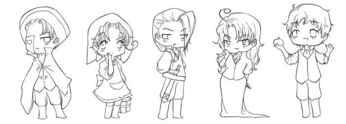 APH: PoTO chibis part one by yunichan