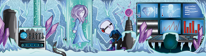 Frozen Love (Mr. Freeez and Nora Fries) by Bysamy