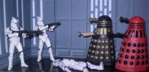 Troopers Vs. Daleks by CyberDrone