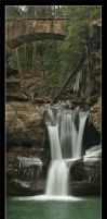 Upper Falls With Ice by BuckNut