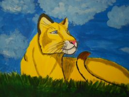 Painted Florida Panther by Hawkshadow4eva