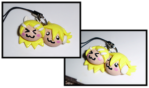 Kagamine Rin and Len COUPLE Charm by UniqueTreats