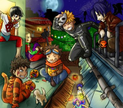 Naruto Halloween by clingwrap
