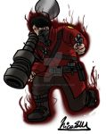 TF2 Commission, Vengeful Heavy Metal Soldier by Nicolas-SW
