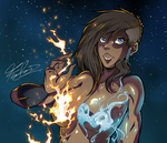 Elemental Bikini - Commission by TirNaNogIndustries