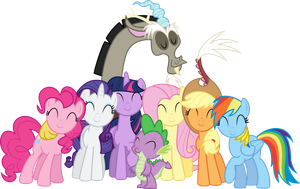 Mane 6 and Spike + Discord by PLsim