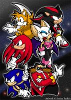 Sonic Adventure 2 Characters by jessicapadkin