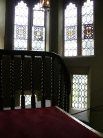 stained glass staircase by GRANNYSATTICSTOCK