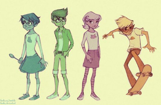 The new kids by Kecky
