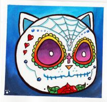 Meow Sugar Skull by ChibiCelina