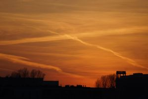 Sunset in Warsaw#3 by Zbig63