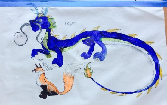 Falcor and Marie the Red fox Vixen by masonthetrex
