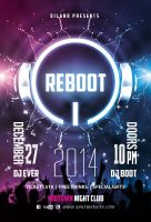 Reboot Party Flyer Template by Dilanr