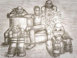 Request - Cody Chillin with TMNT by carriehowarth