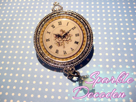 Antique style Clock Work Brooch by Rose-McSugar