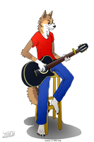 Peter y su guitarra [commission point - Peter1998] by Ysbrid