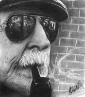 Blind smoke in pencils by Gustavo-Santiago