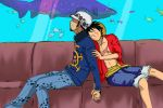 Law and Luffy, sweet love by FryderMig1