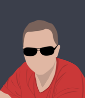 Myself in flat design by mares-pavel