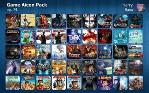 Game Aicon Pack 74 by HarryBana