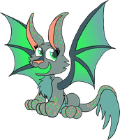 Dragon Cat Hybrid Adoptable [CLOSED] by FaithLeafCat