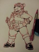 Steambear 1 sketch by GTDees