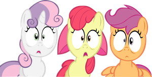 Cutie Mark Crusaders Are Shocked by Alphanz