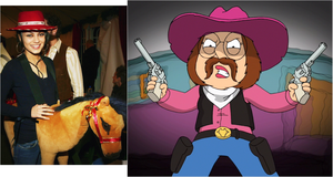 Meg Griffin and Mila Kunis as Cowgirls by stumanbud