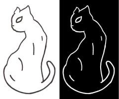 :School Project: Cat for Black by FullmetalsGirl