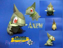 Axew Papercraft Official Pic by Sabi996