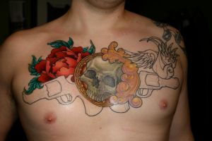 Chest Piece 3rd Session by filly4585