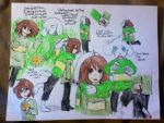Undertale- Chara and Asriel by blarfiesforevs