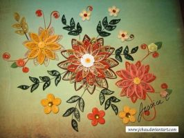 Quilling Flowers 10 by jchau