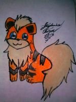Growlithe Drawing by Miku-chan9