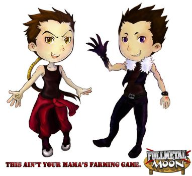 Greed + Kimblee: Harvest Moon by lia-bug