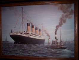 Titanic Painting by InvisibleCorpseGirl