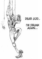 Go home Spidey..you're drunk!.. by Alex-25