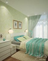 Bedroom. Green Leaves by CheShindra